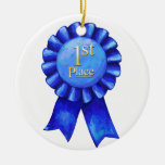 1st Place Ribbon Medallion Christmas Tree Ornaments