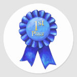 1st Place Ribbon Stickers Round Sticker