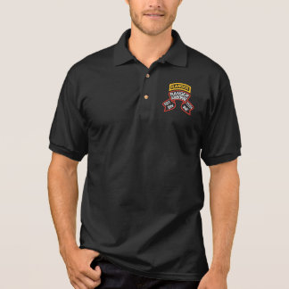 1st Ranger Battalion old-style scroll with tab Polo Shirt