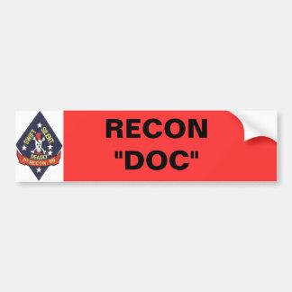 """1st_recon-bn_insig, RECON """"DOC"""" Bumper Sticker"""