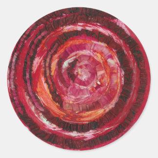 1st-Root Chakra Red Paint-Fabric #2 Classic Round Sticker