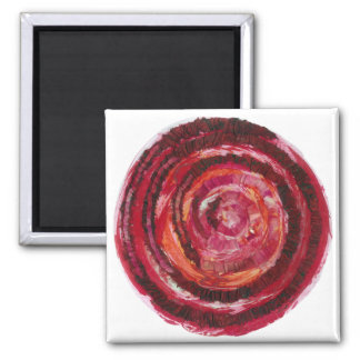 1st-Root Chakra Red Paint-Fabric #2 Square Magnet
