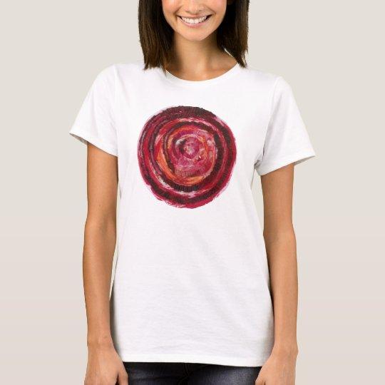 1st-Root Chakra Red Spiral Healing Artwork #2 T-Shirt
