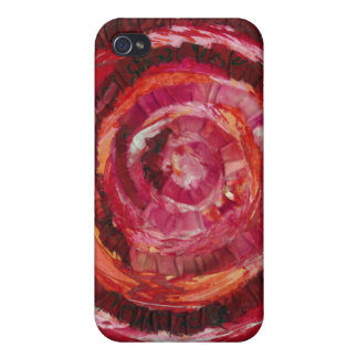 1st-Root Chakra Red Spiral Paint-Fabric #2 Covers For iPhone 4