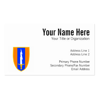 1st Signal Brigade Shoulder Patch Business Card