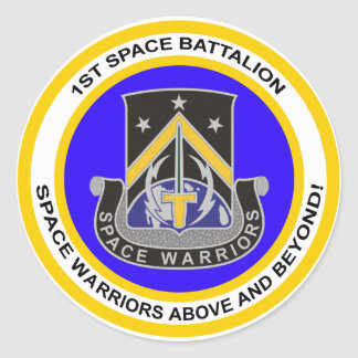 1st Space Battalion Classic Round Sticker