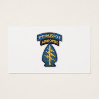 1st special forces green berets sf sfg sof lrrps business card