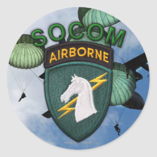 1st Special ops usacapoc command veterans socom Classic Round Sticker