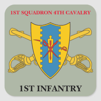 1ST SQUADRON 4TH CAVALRY 1ST INFANTRY STICKERS