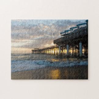 1st Sunrise 2017 Cocoa Beach Jigsaw Puzzle