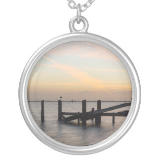 1st Sunset 2017 Cocoa Beach Silver Plated Necklace