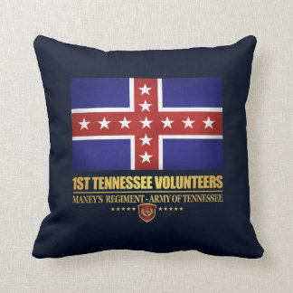1st Tennessee Infantry (F10) Throw Pillow