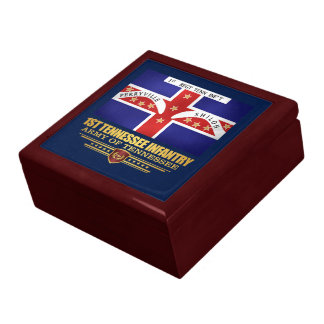 1st Tennessee Infantry Jewelry Boxes