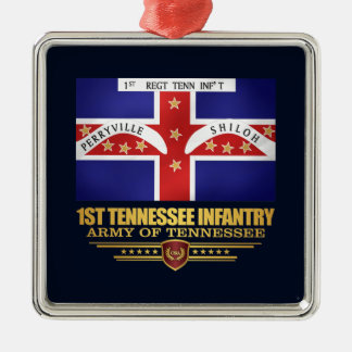 1st Tennessee Infantry Metal Ornament
