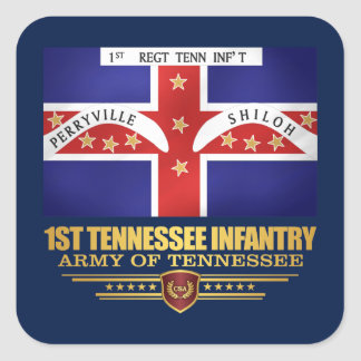 1st Tennessee Infantry Square Sticker