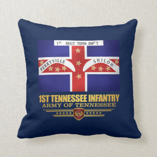 1st Tennessee Infantry Throw Pillow