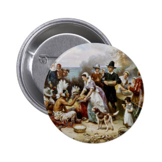 1st thanksgiving 2 inch round button