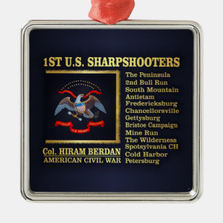 1st US Sharpshooters (BH) Metal Ornament