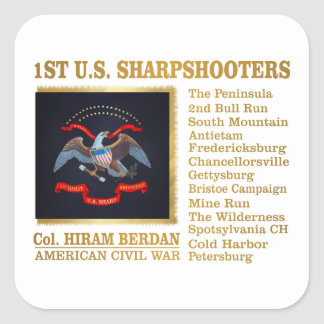 1st US Sharpshooters (BH) Square Sticker