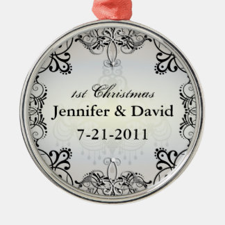 1st Wedded Christmas Flourish Ornament