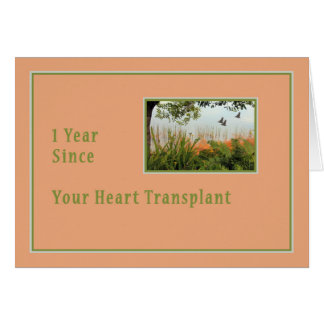 1st Year Anniversary after Heart Surgery Card