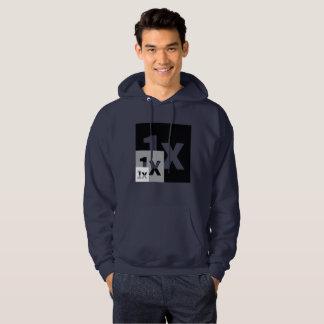 1x discreet hoodie, resize logo hoodie