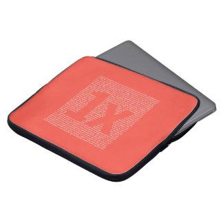 "1x ""drush"" notebook sleeve, orange laptop sleeve"