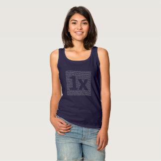 "1x ""drush"" women's top, dark blue tank top"