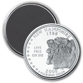 2000 New Hampshire State Quarter magnet