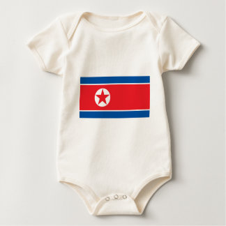 2000px-Flag_of_North_Korea Baby Bodysuit
