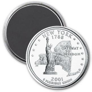 2001 New York State Quarter magnet