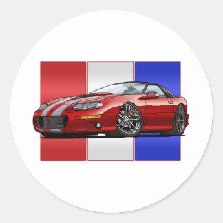 2002 Chevy Camaro SS Classic Round Sticker