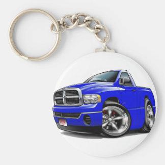 2003-08 Dodge Ram Blue Truck Basic Round Button Keychain