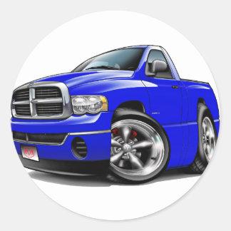 2003-08 Dodge Ram Blue Truck Round Sticker