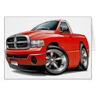 2003-08 Dodge Ram Red Truck Card