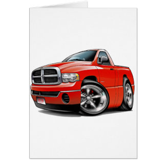 2003-08 Dodge Ram Red Truck Greeting Card