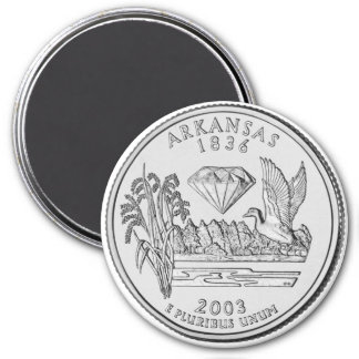 2003 Arkansas State Quarter magnet