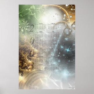 2003 Fractal Calendar Poster