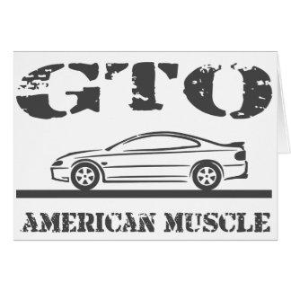 2004-06 GTO American Muscle Car Card