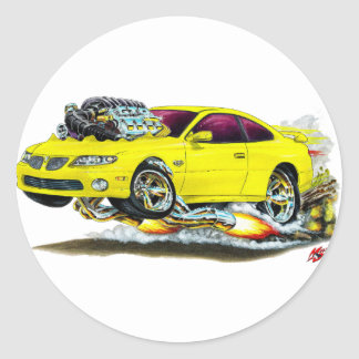 2004-06 GTO Yellow Car Classic Round Sticker