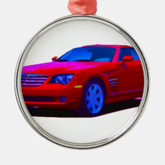 2004 Chrysler Crossfire Silver-Colored Round Ornament