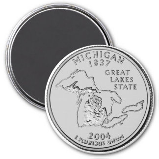 2004 Michigan State Quarter magnet