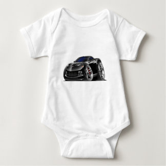 2005-09 Corvette Black Car Baby Bodysuit