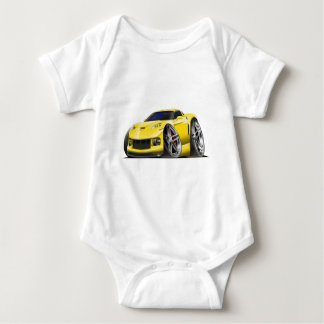 2005-09 Corvette Yellow Car Baby Bodysuit