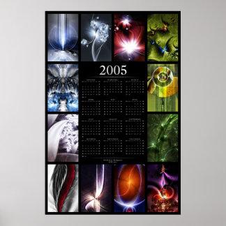 2005 Fractal Calendar Poster