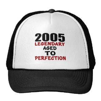 2005  LEGENDARY AGED TO PERFECTION TRUCKER HAT
