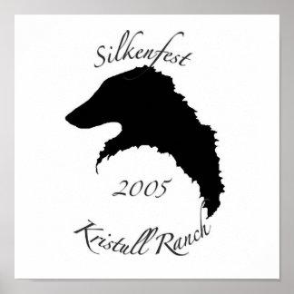 2005 Silkenfest logo poster/print Poster