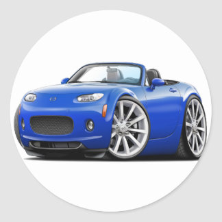 2006-08 Miata Blue Car Round Sticker