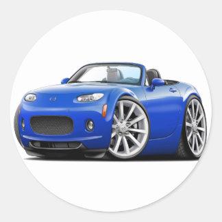2006-08 Miata Blue Car Round Stickers