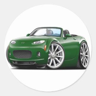 2006-08 Miata Green Car Round Sticker